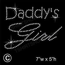 Daddy's Girl de diamantes/imitaci ón diamante transferencia Hotfix ironon Motif Con Un Regalo Gratis
