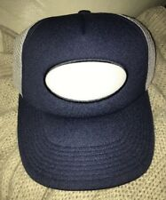 TRUCKER STYLE SNAPBACK HAT NAVY BLUE WHITE DICKIES? SAMPLE RUSTY STYLE CAP NWT