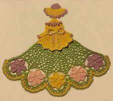 New listing Crochet Crinoline Lady Doily - Flowers