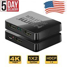 HDMI Splitter Amplifier 1 In 2 Out Video Duplicator 4K Full HD 3D Fox-tel DVD