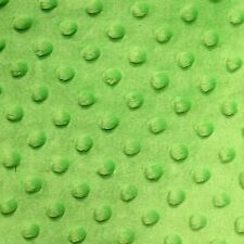 """Lime Green Minky Dot Cuddle Fabric - Sold By The Yard - 58""""/ 60"""""""