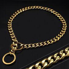 Gold Dog Chain Collar Heavy Dog Pet Training Choker Slip Chain for Large Dogs