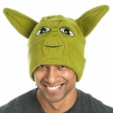 Adult Unisex Space Battle Movie Star Wars Jedi Yoda Face with Ears Green Beanie