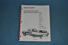 1988 Toyota Full Line What's New Salesman Manual MR2 Celica 4Runner Land Cruiser