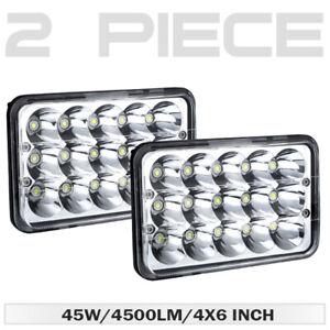 "2Pc 4x6""inch LED Headlight DRL Hi-Lo Beam for Honda XR250 XR400 XR650 Motorcycle"
