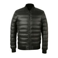 New Men's Quilted Lightweight Duck Down Jacket Outwear Zipper Slim Fit Warm Coat