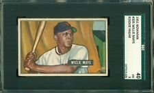Willie Mays 1951 Bowman Rookie #305 ** SGC 40 / 3 ** Centered 50/50 !