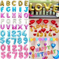 "16"" Large Letter Foil BALLON Happy Birthday Party Wedding Balloons Anniversary"