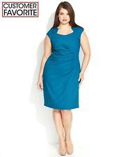 Calvin Klein NWT Exquisite Fancy Neck CERULEANS heath Dress Plus size 14W