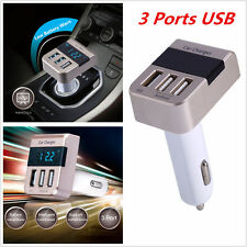 Universal 5V 3.1A 3 Ports USB Car Cigarette Lighter Quick Charger For All Phones