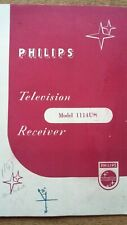 Vintage Philips Television Operating Instruction Receiver Booklet