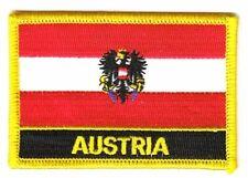 Aufnäher Österreich Adler Schrift Patch Flagge Fahne