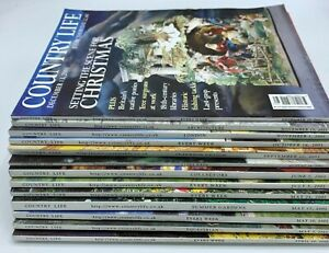 Lot of Country Life Magazine x 13  Issues from  April - December 2001