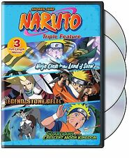Naruto The Movie Anime Series Complete Films 1 2 & 3 DVD Boxed Set NEW!