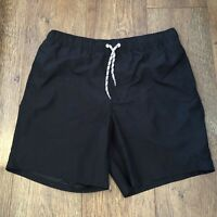 BLACK SWIM SHORTS MEDIUM ASOS SUMMER BEACH SPORT POOL FOOTBALL GOLF TENNIS TOWIE