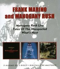 FRANK & MAHOGANY RUSH MARINO -LIVE/TALES OF THE UNEXPECTED/WHAT'S NEXT 2 CD NEW+