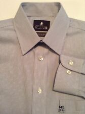 Stafford Men's Dress Shirt Blue Pinstripe Size Small 14 1/2 32-33 Reg fit NWT