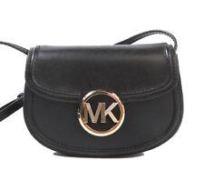 NWT MICHAEL KORS Fulton Small Belt Bag Leather Crossbody Black Gold 35F9GFTN1L
