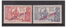 French Indian Settlements - SG 161/2 - l/m- 1941 - 1 fa 12 and 2fa 12