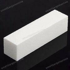 White Nail Art Buffer Block File Acrylic Gel Sanding Pedicure Manicure Care