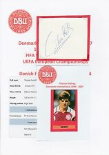 THOMAS HELVEG DENMARK INTERNATIONAL 1994-2007 ORIGINAL HAND SIGNED CUTTING