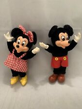 Vintage 1981 Mickey & Mini Mouse Plush Applause Dolls - Collector Owned