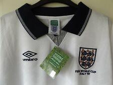 RARE England Home Football Shirt 1990 World cup Italia 90 2XL