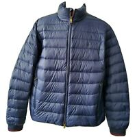 POLO Ralph Lauren Men's Jacket Pony Packable Quilted Down puffer navy blue sz L