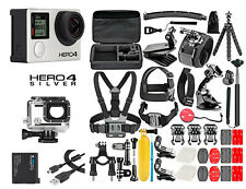 GoPro HERO 4 Silver Edition Camera +50PCS Accessory +OEM Battery+Waterproof Case