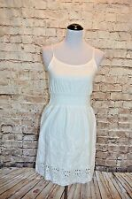 Modcloth Mimosa Toast dress NWOT S Poema White Eyelet Shirred waist Sundress