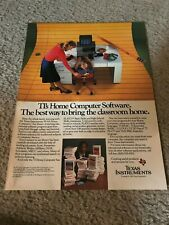 Vintage 1983 TEXAS INSTRUMENTS 99/4A Home Computer PC Print Ad PLATO SOFTWARE