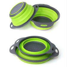 Silicone Folding Basket Strainer Foldable Silicone Colander Collapsible Drainer