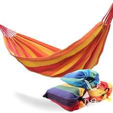 New 78.74in*31.49in Canvas Single Person Outdoor Hammock For Hiking Camping BBQ