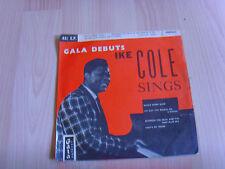 """7"""" single vinyl record gala debut ike cole sings"""