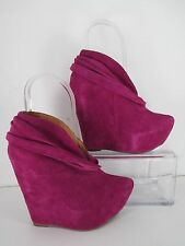 Jeffrey Campbell Purple Platform Zoomie Pointed Toe Ankle Booties Sz 6
