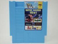 Super Games 143 in 1 Nintendo NES Cartridge Multicart v1.0 Cool Blue 100 Best