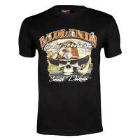 Badlands Harley-Davidson® Men's Skull Short Sleeve Black T-Shirt