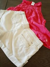 Abercrombie & Fitch NWT  Size L Sleeveless Top & AE khaki Short shorts 8 LOT