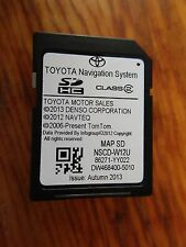 2012 2013 2014  TOYOTA SEQUOIA TUNDRA SIENNA NAVIGATION SD CARD  86271-YY022
