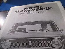 1971  Fiat 128   test reprint  Motor Trend
