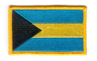 THE BAHAMAS BAHAMIAN FLAG PATCHES backpack  PATCH BADGE IRON ON NEW EMBROIDERED