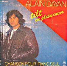 ++ALAIN DAYDAN tilt en plein coeur/chanson pr piano seul SP 1980 EMI EX++