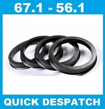 4 X 67.1 - 56.1 ALLOY WHEEL LOCATING HUB SPIGOT RINGS FIT SUBARU IMPREZA ALL