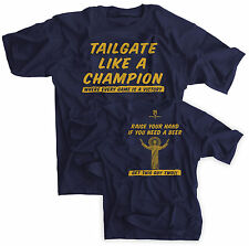 Tailgate Like A Champion Shirt Notre Dame Football Touchdown Jesus Beer Funny