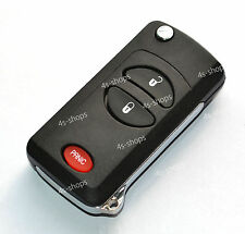 Remodel Flip Folding Remote Key Case Shell For Chrysler Dodge Jeep 2+1 buttons