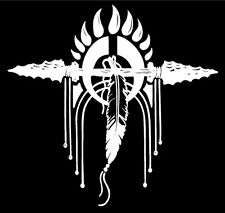 Native American Indian Crest Decal Feathers Spirit car window vinyl sticker