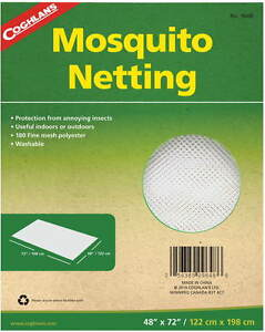 """MOSQUITO NETTING 48"""" X 72 """" 180 FINE MESH POLYESTER WASHABLE- CAN USE FOR REPAIR"""