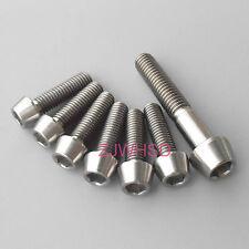 7pcs Ti Titanium Bolt Screw Kit M5 M6 Taper Set for Headset Cap Stem FSA Easton