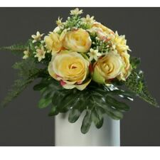 Kunstblume Seidenblume gelb 80cm Dahlie Premium