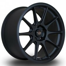 17X8 +40 ROTA STRIKE F 5X100 BLACK WHEELS RIMS ( SET OF 4 ) SUBARU TOYOTA VW